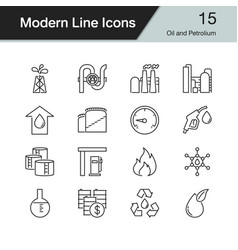 Oil and petroleum icons vector