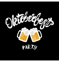 Oktoberfest party hand written lettering poster vector
