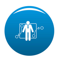 one businessman icon blue vector image