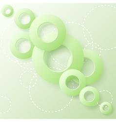 paper circles vector image