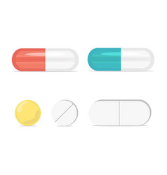 pills medicine capsule set pharmacy drugs vector image