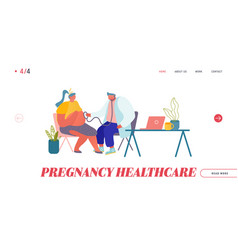 Pregnancy check up maternity website landing page vector