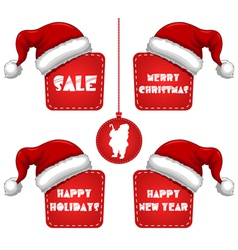 rectangle year sale tag with cap vector image