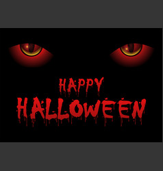 red evil eyes staring and lurking from the dark vector image