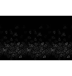 Seamless triangle pattern Black monochrome vector image