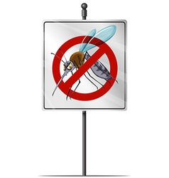 Sign for mosquito control vector image