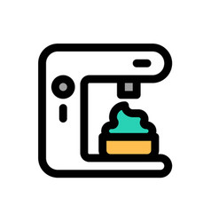 Soft serve machine sweets filled icon editable vector