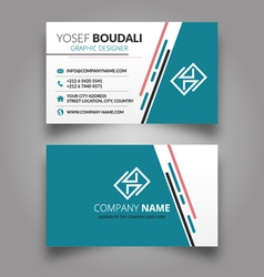 Stylish business card vector image