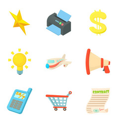 tax document icons set cartoon style vector image