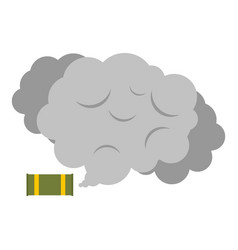 Tear gas canister icon isolated vector