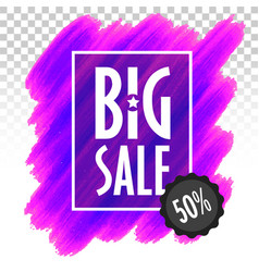 template banner big sale marketing trend vector image