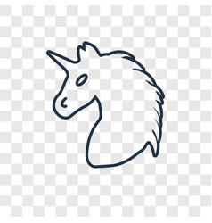 unicorn concept linear icon isolated on vector image