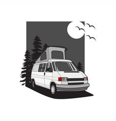 Van camper vector