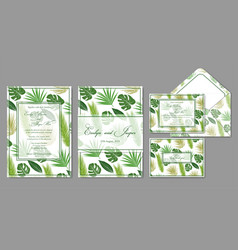 wedding invite envelope rsvp holiday card vector image