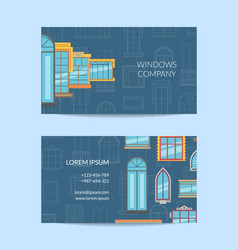 window flat icons business card vector image