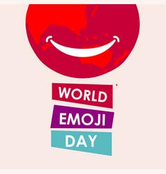 world emoji day template design vector image