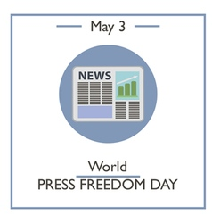 World Press Freedom Day vector
