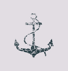 anchor icon on abstract backdrop vector image