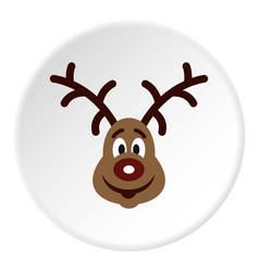 Christmas deer icon circle vector