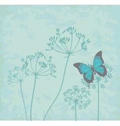 fennel flower vector image vector image