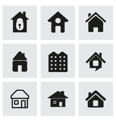 house icons set vector image