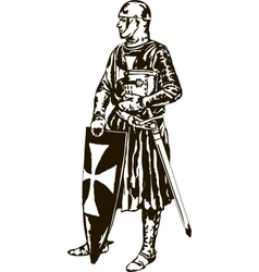 Medieval Knight vector image vector image