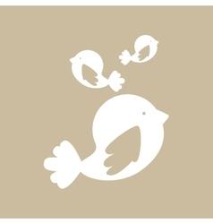 cute birds design vector image vector image