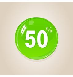 discount button vector image vector image