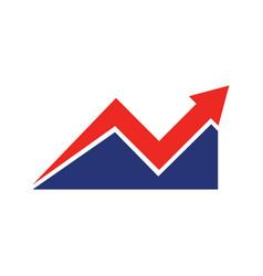dynamic financial plan vector image