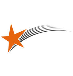 logo flying star meteorite logo vector image vector image