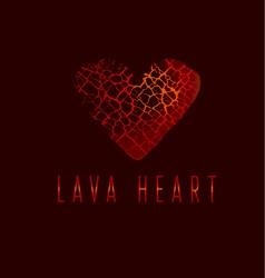 love icon concept abstract broken heart symbol red vector image