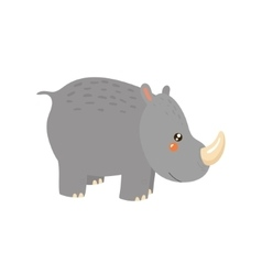 Rhinoceros Realistic Childish vector image