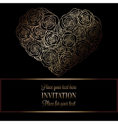 Romantic background with antique luxury black and vector