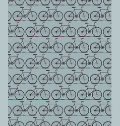 seamless pattern bike silhouette vector image vector image
