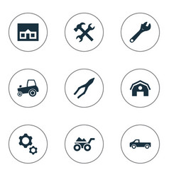 set of simple axe icons vector image vector image