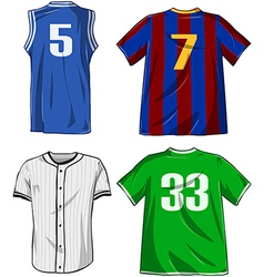 Sports Shirts Pack vector image vector image