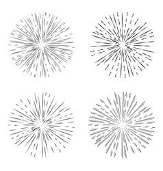star burst set element vector image