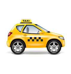 Taxi car isolated on white vector image vector image