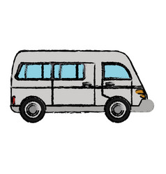 van vehicle transport classic vector image