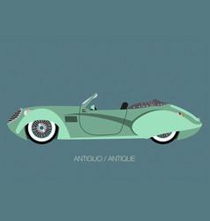 vintage convertible car vector image