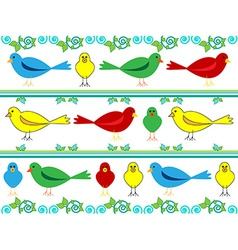 Bird wallpaper vector image vector image