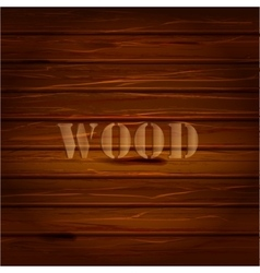 Brown wood texture background with text vector image