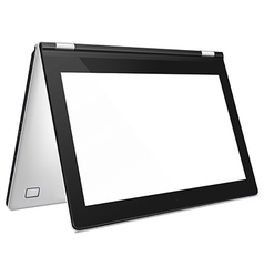 Convertible laptop with blank screen vector image vector image