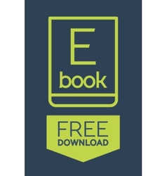 Flat Ebook free download icon vector image vector image