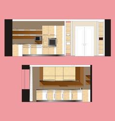 Furniture Kitchen Scan vector image vector image