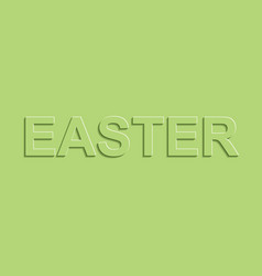 greeting banners easter green pastel color shadow vector image