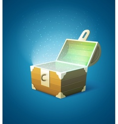 Magic fairy-tale wooden trunk vector image