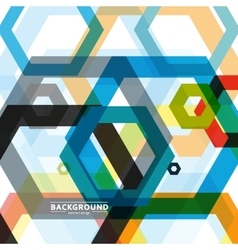 background of large colored hexagons eps vector image vector image