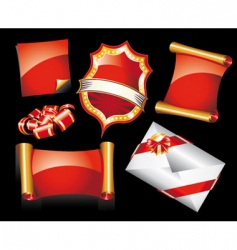 Christmas stickers or icons vector image