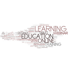 E-learning word cloud concept vector